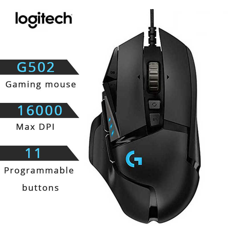Logitech G502 Pahlawan Gaming Mouse Garis Penuh Meng-upgrade Pahlawan Mesin dengan 16,000 DPI Sensor 11 Tombol Yang Dapat Disesuaikan