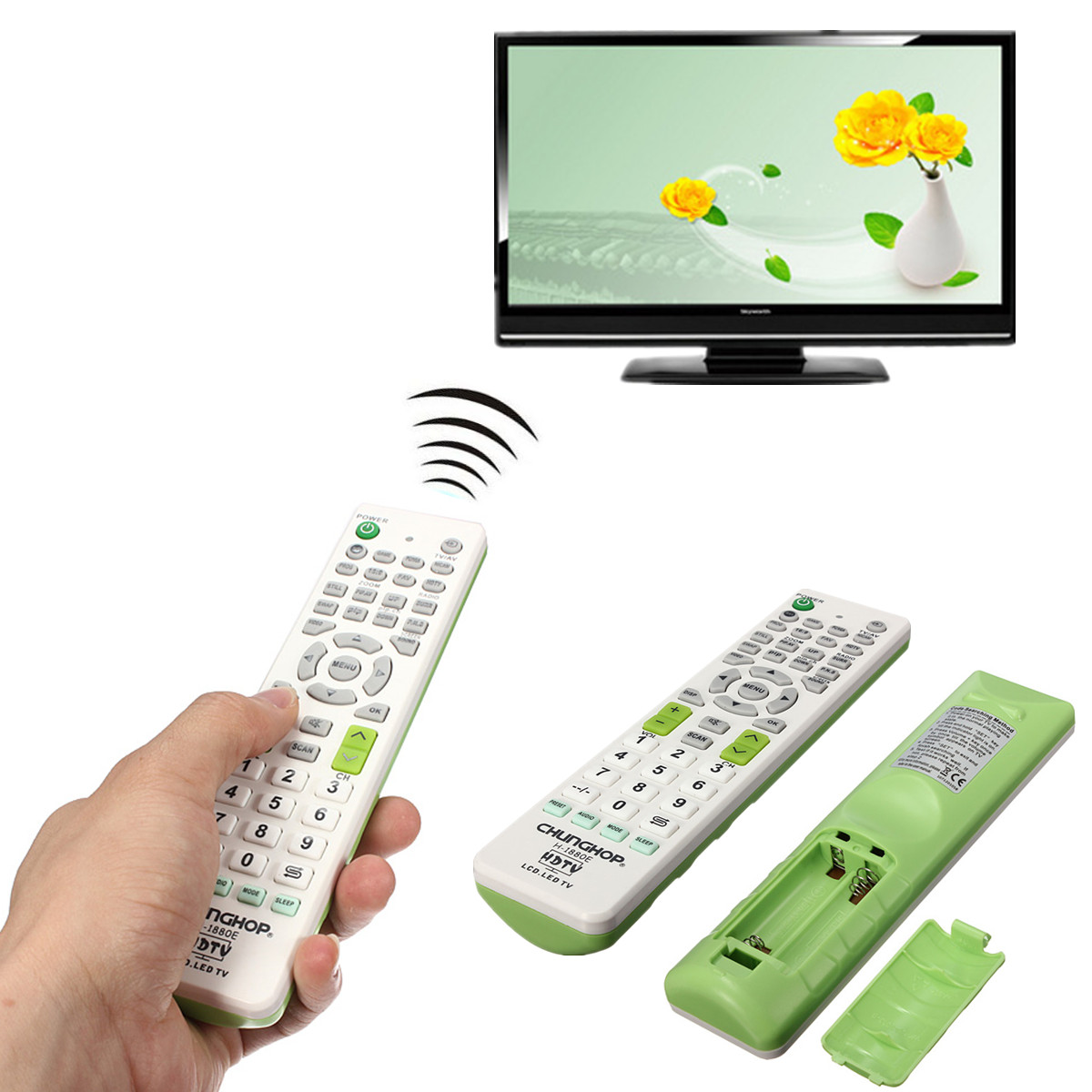 CHUNGHOP H-1880E Portable Universal TV Universal Remote Control Controller Replacement for Sony For Panasonic Television Sets chunghop rm139ex learning remote control universal replacement for tv set