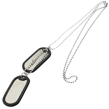 Men's Women's Fashion Cool Dog Tag Pendants Beaded Necklace Sweater Chain