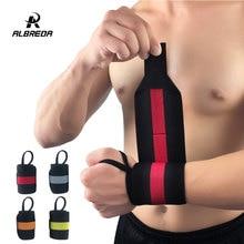 ALBREDA бандаж для тяжелой атлетики, ремешок для фитнеса, тренажерного зала, спортивного запястья, повязка на запястье, поддерживающий руку, браслет, регулируемый, для взрослых, защита на запястье