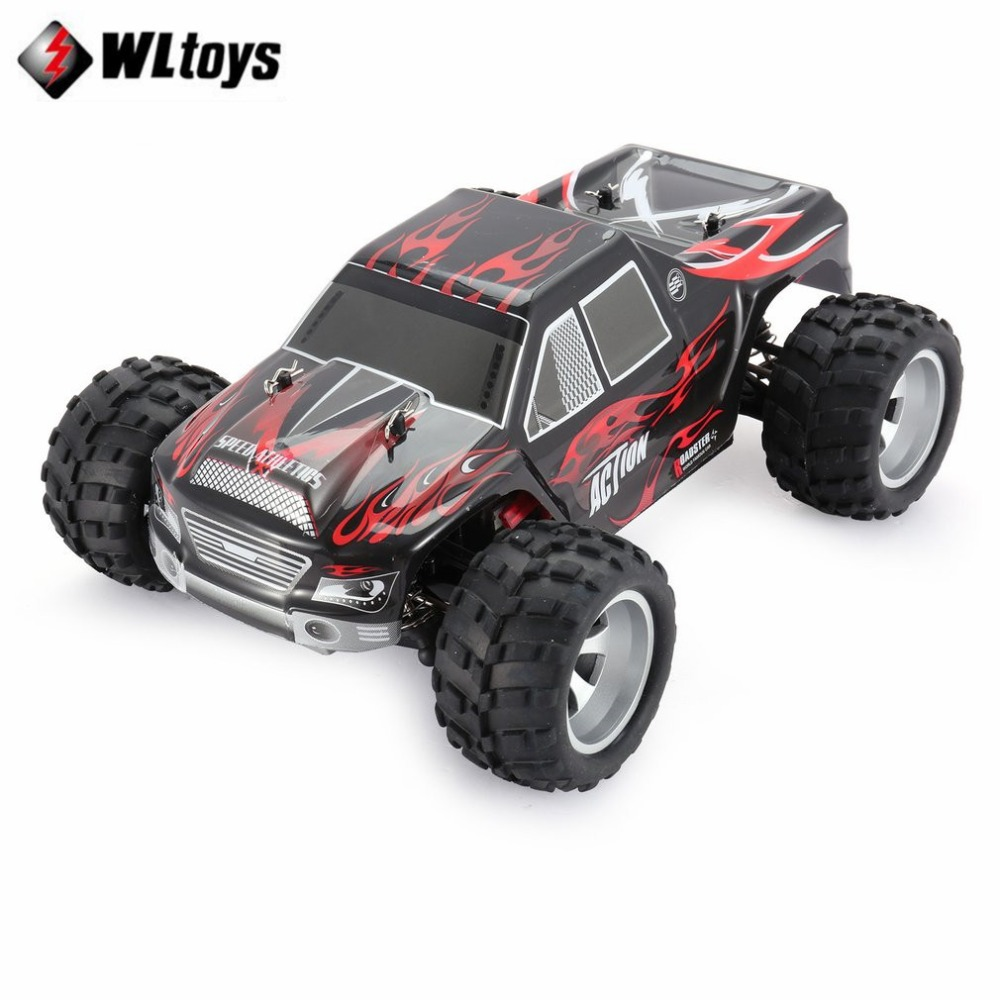 WLtoys A979 2.4GHz 1/18 Full Proportional Remote Control 4WD Vehicle 45KM/h Brushed Motor Electric RTR Off-road Buggy RC Car fi hongnor ofna x3e rtr 1 8 scale rc dune buggy cars electric off road w tenshock motor free shipping