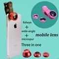 Рыбий глаз 3 в 1 мобильный телефон клип линзы рыбий глаз широкий угол макро объектив камеры для iphone 7 6 s plus 5S xiaomi huawei samsung
