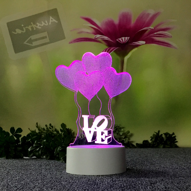 Inventive Touch Switch 3d Table Lamps For Living Room Bedside Decorative For Children's Bedroom Desk Lamp Christmas Decorations Gift