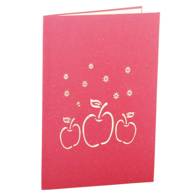 5pcslot handmade merry christmas greetings cards kirigami 3d hollow 5pcslot handmade merry christmas greetings cards kirigami 3d hollow apple design pop up postal m4hsunfo