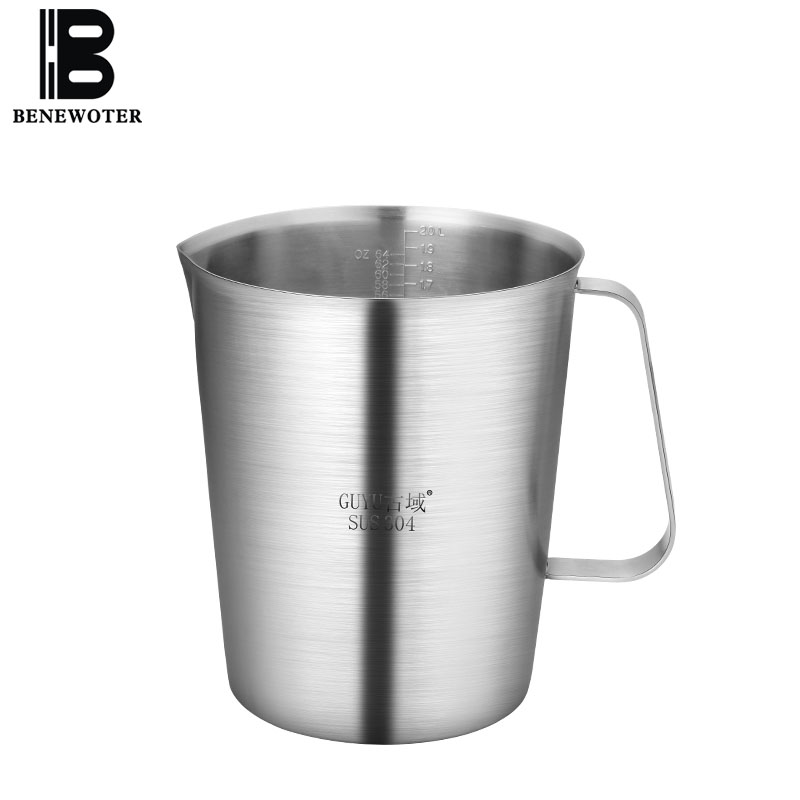 Thicken 304 Stainless Steel Pull Flower Tool Coffee Pot High Capacity Milk Frothing Jug Coffee Pitcher Barista Craft Creamer Cup
