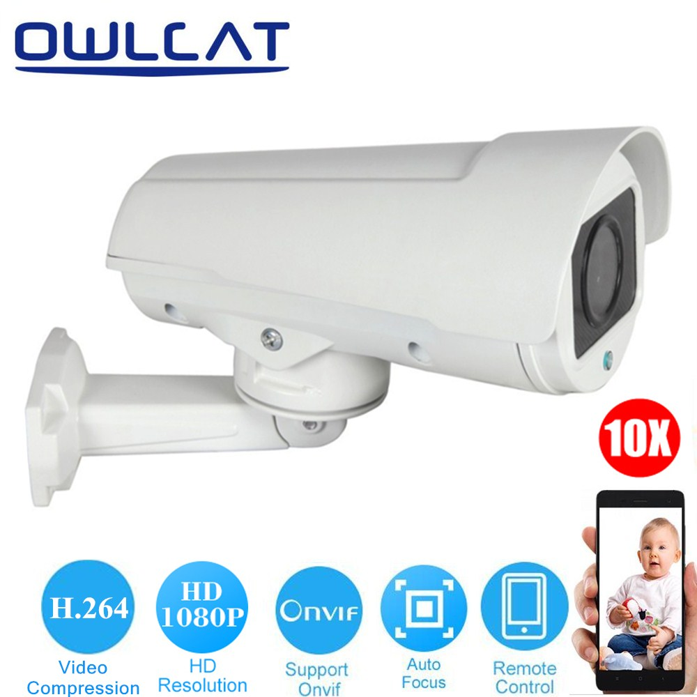 OwlCat 1080P HD Bullet IP Camera PTZ 2MP 4MP 4X 10X ZOOM AUTO FOCUS Varifocal Lens H.264 Network CCTV Camera ONVIF Outdoor P2P smar onvif security hd ip camera 720p 960p 1080p outdoor waterproof cctv bullet camera 4x zoom 2 8 12mm manual varifocal lens
