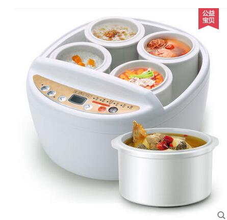 Life diary D621 electric cookers electric slow cooker porridge pot compartment hydropower slow cooker stew white porcelain dmwd electric kettle eggs slow cooker teapot multifunction porridge stew pot hot water boiler timing milk heater 1 8l 110v 220v