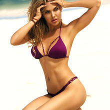Купить с кэшбэком Sexy Brazilian Bikini 2019 Swimsuit Swimwear Women Push Up Bikini Set Triangular Beading Summer Beach Party Two-Piece Suits New
