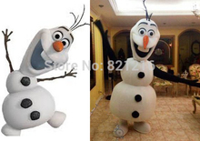 2016 New Version OLAF Snowman Adult Mascot Costume Olaf Fancy Dress for Christmas Party - S
