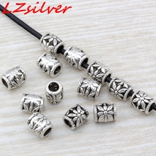 Hot Sale !  100pcs Antique Silver zinc alloy Daisy Barrel Beads 7x8mm DIY Jewelry D11