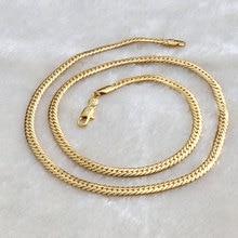 """Подлинное Золотое GF женское кубинское звено цепи ожерелье SZ 2"""" 5 мм безусловная пожизненная Гарантия Замены"""