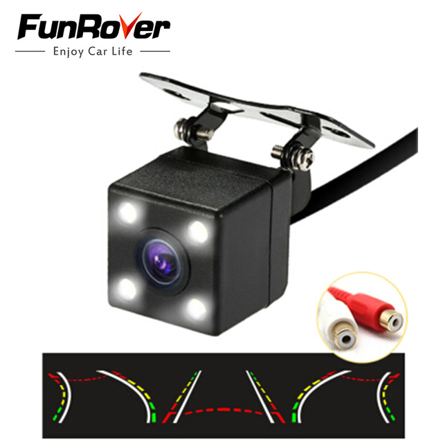 Funrover HD CCD Car Rearview Camera back up 170 Degree Backup Parking Reverse Trajectory Camera de recul rexton Rear view Camera