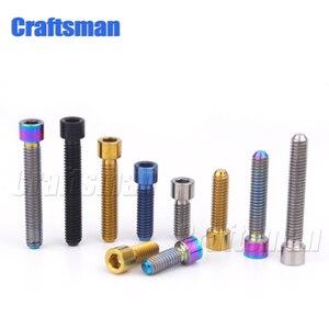 Titanium M4 X 8 10 14 20 25mm Allen Key Small Head Bolt for Bicycle Thumb Shifter Rear/front Derailleur H/L Adjustment Screws(China)