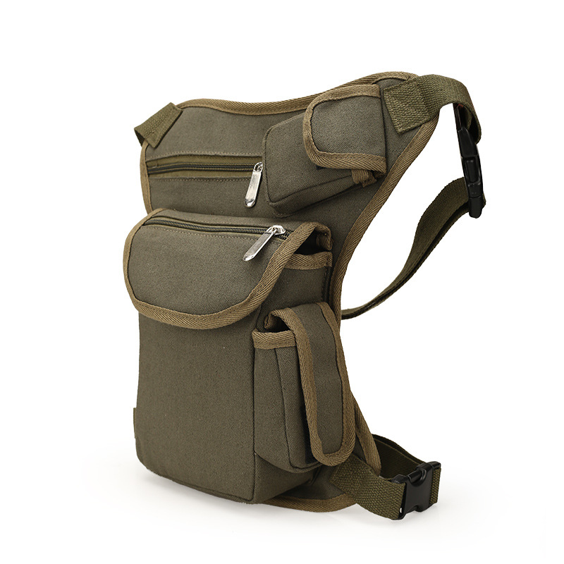 Multi-functional Unisex Canvas Military Tactical Travel Hiking Motorcycle Cycling Leg Bag Pack Outdoor Fishing gear Waist Bags