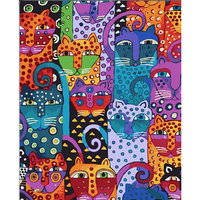 Picture On Wall Acrylic Cat Drawing Oil Painting By Numbers Abstract Gift DIY Beautiful Lovely Coloring