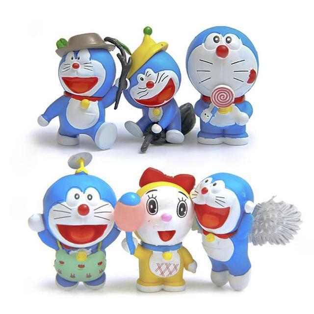 aliexpress com buy 6pcs lot doraemon cute figures cute flying