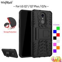 цена на For Cover LG Q7 Case WolfRule TPU & PC Armor Bumper Protective Back Phone Case For LG Q7 Cover For LG Q7 Plus / Q7a alpha 5.5''