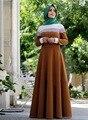 Moda abaya oração Muçulmana para adultos do sexo feminino de verão rendas costura Vestido de Manga Longa Estilo dubai Vestes Árabes Traje Étnico wj89