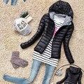 Algodón de Las Mujeres Encapuchadas de la Chaqueta Nueva Moda de Invierno Espesar Casual Mujeres Abrigo Delgado Acolchado Outwear chaquetas mujer