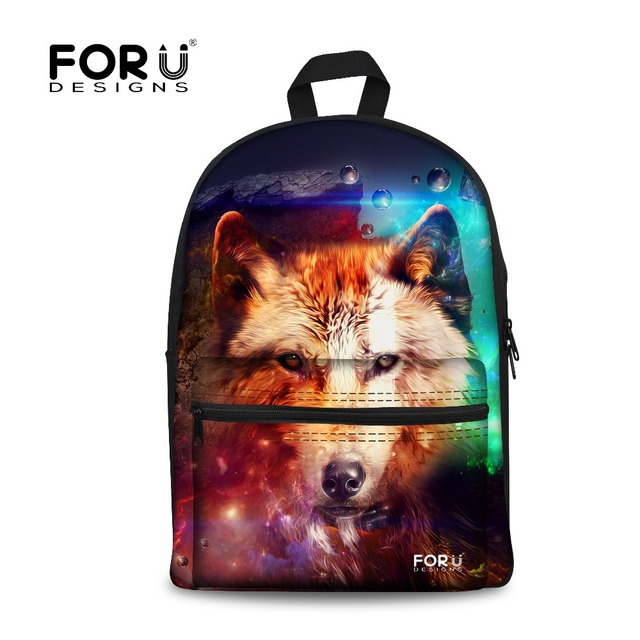 Designer Teen Boys School Bag Cool Children Printing Wolf Horse Schoolbags  Cool Primary Middle School Child Kids Book Bag Mochil