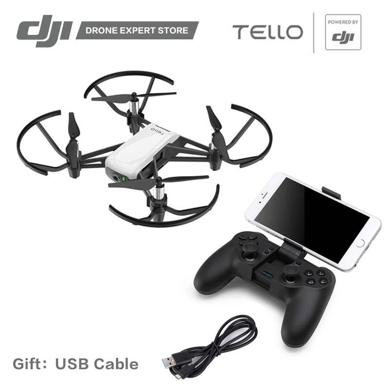 DJI RYZE Tello Drone with 720P Video Camera Wifi App Remote Control Quadcopter FPV 13min Fly Time Toy Helicopter ryze tello drone combo dji tech rc controller 720p video fpv camera rc drone toy gift for children with coding education app