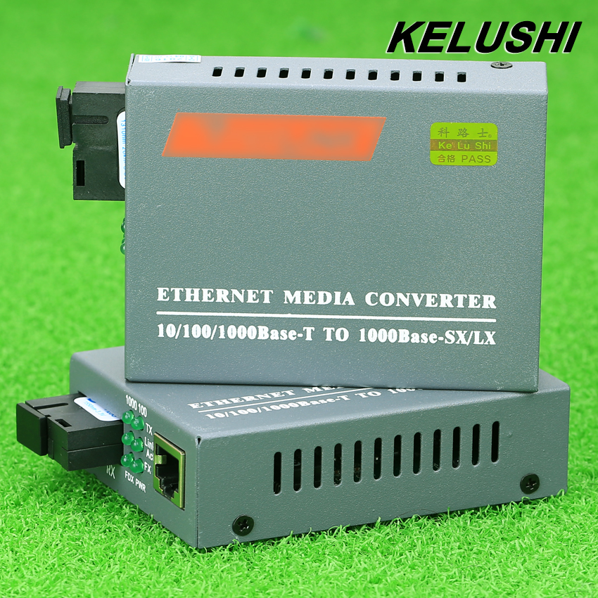 KELUSHI 1 Pair HTB GS 03 A B Gigabit Fiber Optical Media Converter 1000Mbps Single Mode