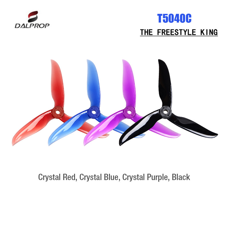 12 Pairs 24PCS Dalprop Cyclone T5040C 5040 5 Inch 3-blade Propeller CW CCW for RC FPV Racing Drone Racer12 Pairs 24PCS Dalprop Cyclone T5040C 5040 5 Inch 3-blade Propeller CW CCW for RC FPV Racing Drone Racer
