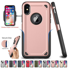 Shockproof Armor Hybrid PC+TPU Slim Rugged Protective Defend Cover For iPhone X XS Max XR 7 8 6 6S Plus Military Phone Case цена и фото