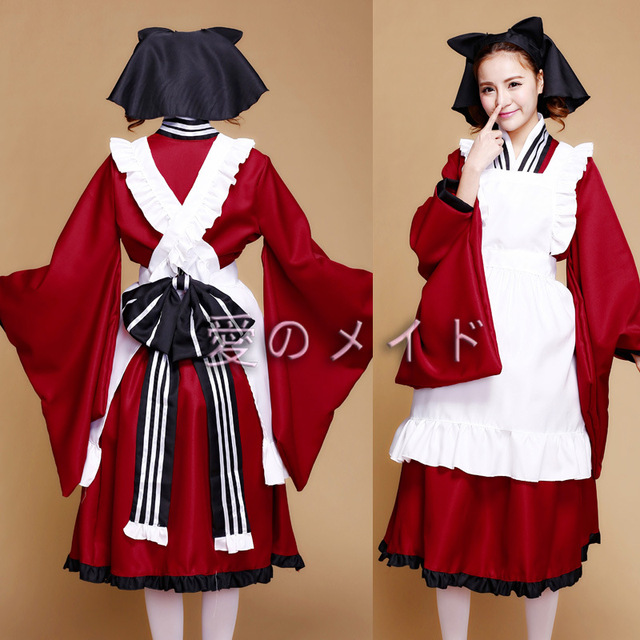 95ef19fd5ac Winter Plus Size Halloween Costumes For Women Gugure Kokkuri-san Cosplay  Lolita Dress Japanese Kimono Traditional LLT001
