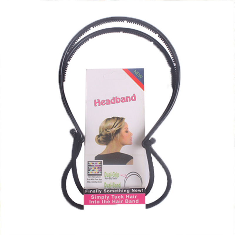 1PC New Elegance Diy Hair Tools Maker Double Hair Bands Women Black Headbands Magica Style Hairbands Hair Accessories For Girls акустика центрального канала mt power elegance center black