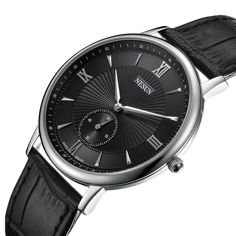Nesun Switzerland Luxury Brand Watch Men Japan MIYOTA Quartz Movement Men's Watches Genuine Leather Waterproof Clock N8501-LM2