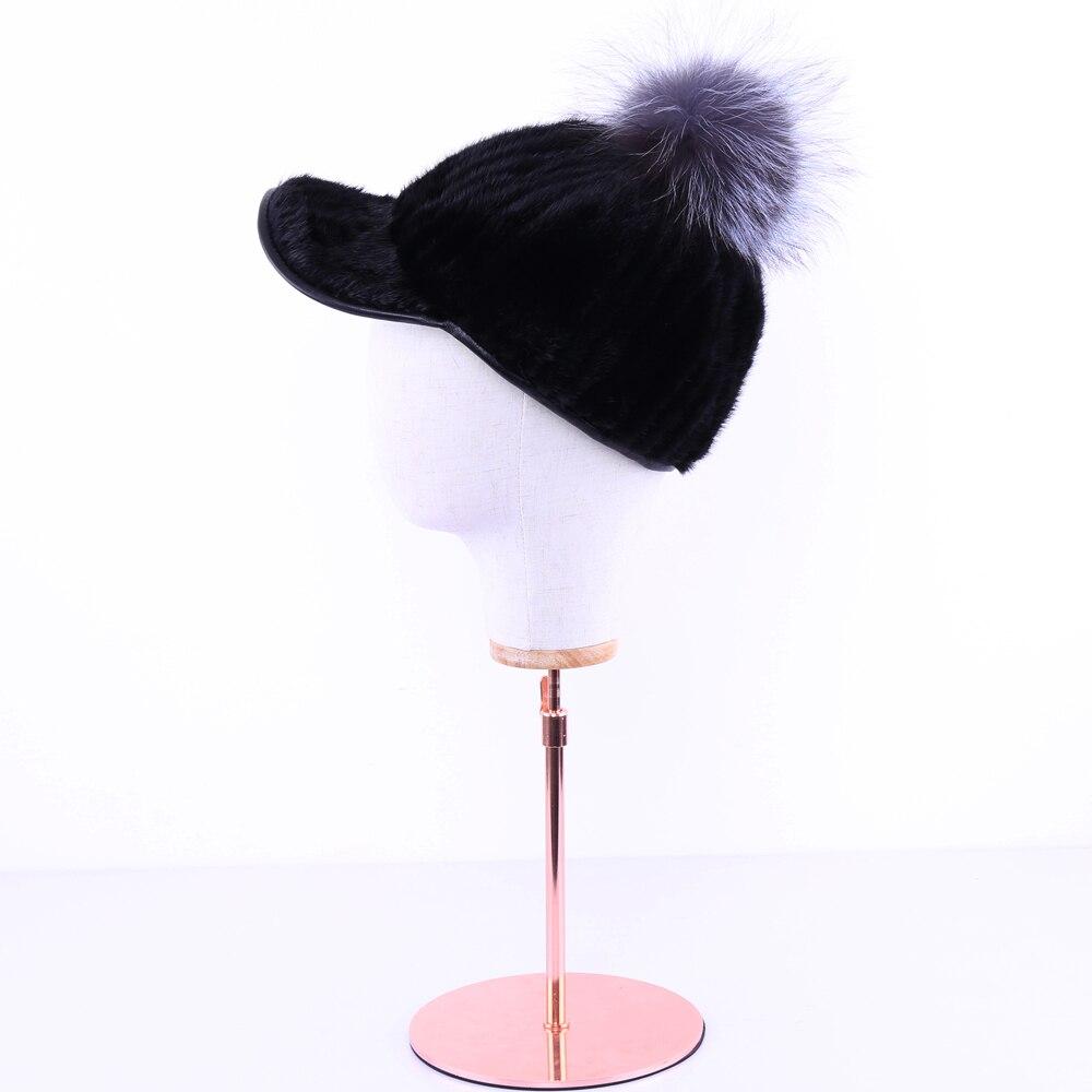Меховая шапка из натуральной норки женская зимняя норковая шапка рыцарская шапка Термальная женская шапка - 5
