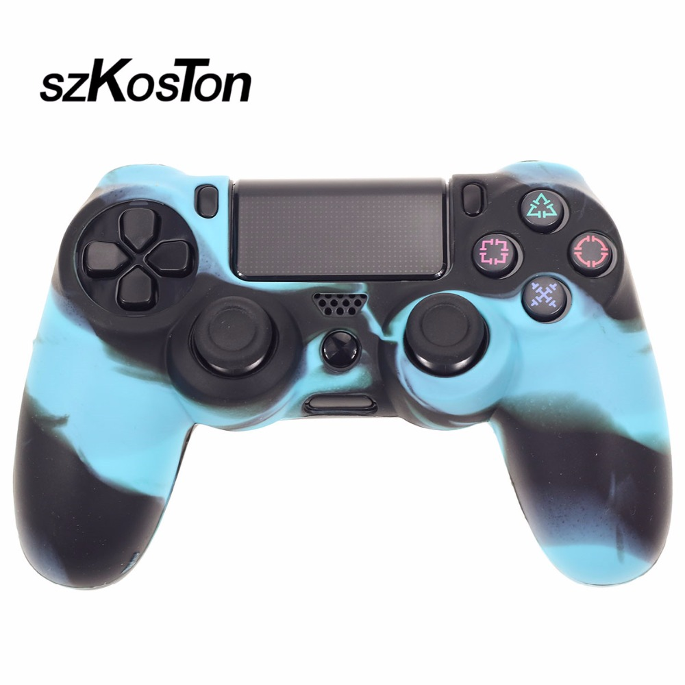 1PCS Protective Skin Case Silicone Soft Rubber Cover for Dual shock PS4 Anti-slip Controller Shell for PlayStation 4 Pro Slim
