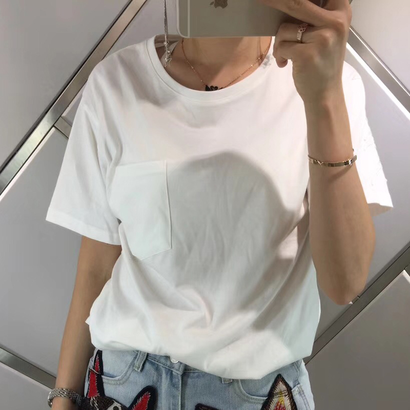 Luxury Women T Shirt for Women High Quality Cotton T Shirt Summer 2018 Tshirts Femme Women