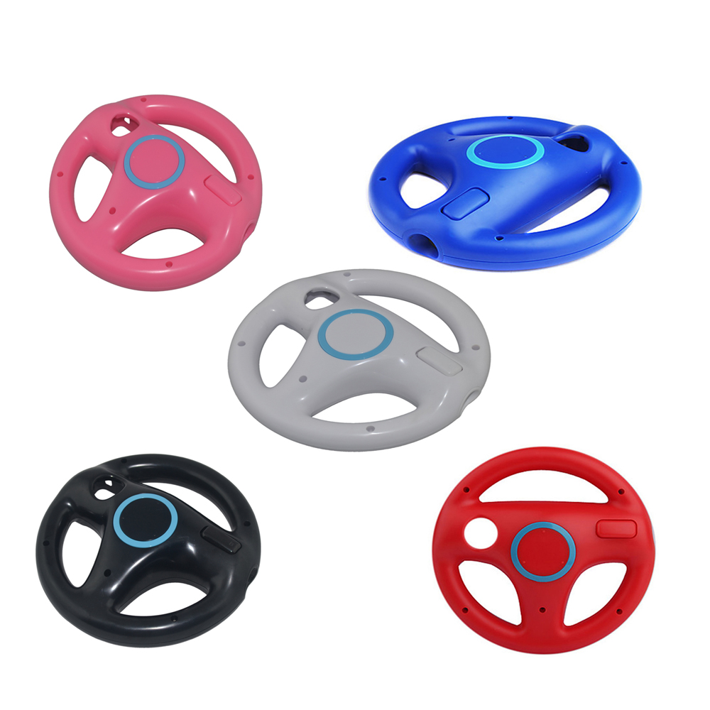 5PCS Hight quality Racing Steering Wheel For Nintend for Wii Racing Games Remote Controller Console ...