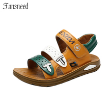 Children Sandals Summer Casual Shoes Boys Sequined Leather Light Sandals Fashion Beach Sandals For Kids Ooen Toe Shoes