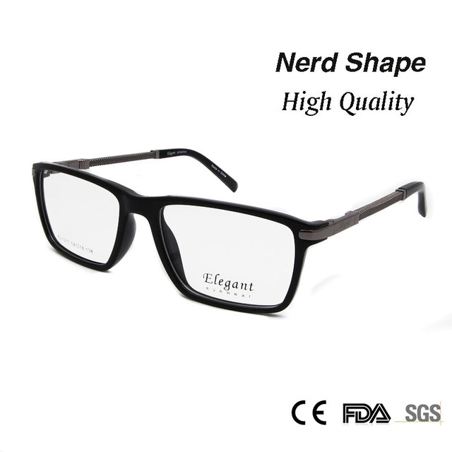 b1e8292ad614 High Quality Rectangle Eyewear Frame Mens Clear Lens Full Rim Prescription  Eyeglasses for Men Women oculos