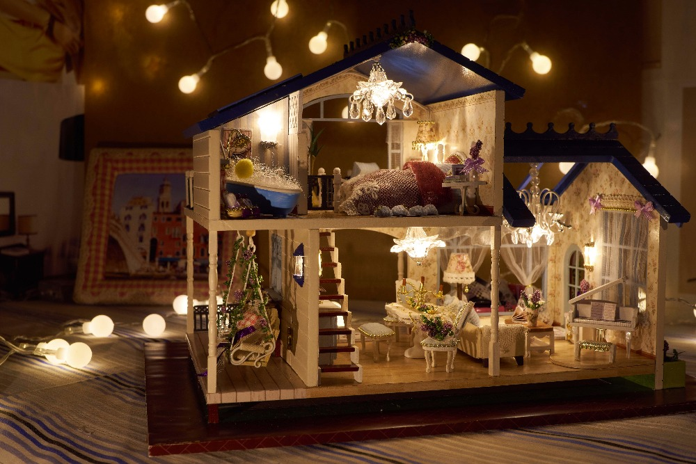 Doll Houses Cute Room New DIY Wooden Doll House Unisex ...  Cute For Craft Rooms Furniture