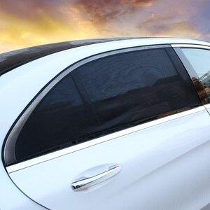 2 шт., 110*50 см, защита от солнца на окно, черная сетчатая крышка, защита от УФ-лучей для большинства автомобилей, авто, боковое, заднее стекло, солнцезащитный козырек