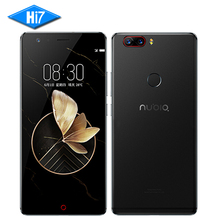 NEUE Original Nubia Z17 6 GB RAM 64 GB ROM 5,5 zoll Snapdragon 835 Octa-core Android 7.1 Dual Rückfahrkamera 3200 mAh LTE Mobilen telefon