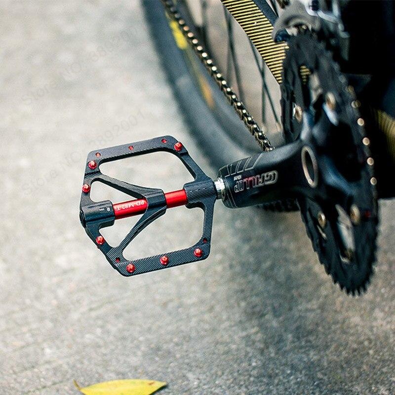PROMEND vtt vélo pédale titane VTT pédale Ti axe axe vtt cyclisme auto-lubrifiant 3 roulement pédales ultra-légères - 2