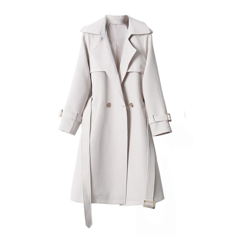 fashion Double-breasted Long   Trench   Coats for Women 2018 Spring Autumn Coats Casual Slim Windbreaker Female Overcoats A1363