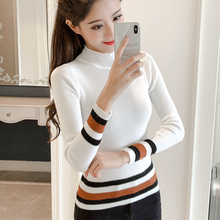 Korean Casual Knitted Women Sweaters and Pullovers Long Sleeve Thin Knit Women Sweater Solid Crop Sweater