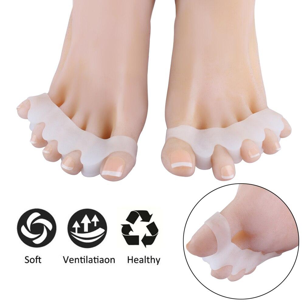 1 Paar 4 Löcher Silikon Pediküre Fußpflege Pediküre Werkzeug Für Beine Finger Toe Separator Teiler Daumen Protector