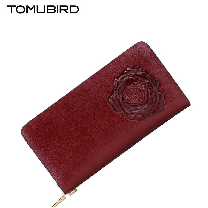 Cow leather handbag  free delivery TOMUBIRD 2017 new leather women wallet National wind hand bag Embossed envelopes yuanyu 2018 new hot free shipping python leather handbag leather handbag snake bag in europe and the party hand women bag
