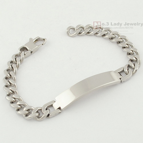 Gokadima 21.5cm, 9mm, Fashion Stainless Steel ID Bracelet Has
