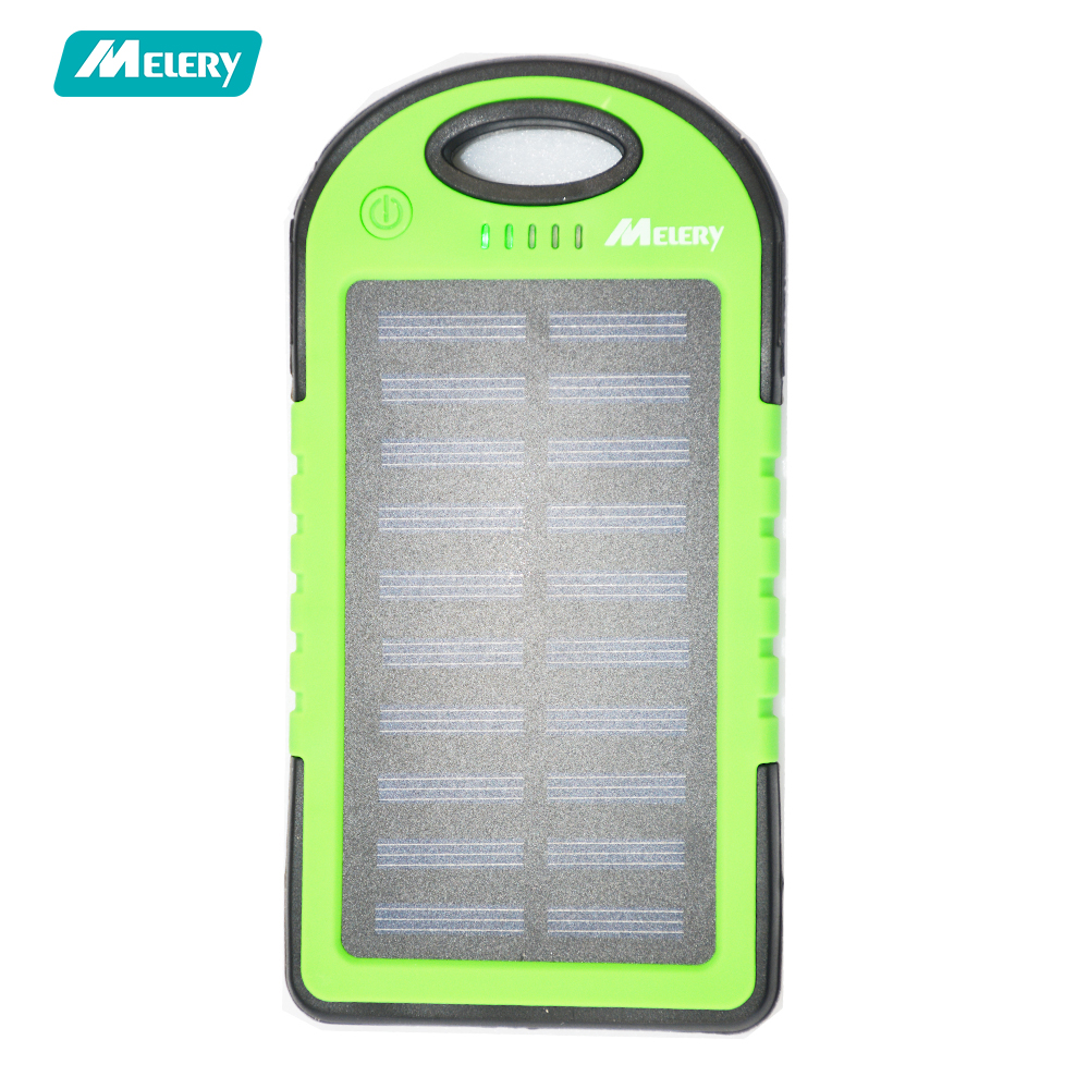 Melery Solar Charger 5000mAh Portable Solar Power Bank Waterproof Shockproof Dustproof Dual USB Battery Bank for IPhone Samsung dairy extension strategies