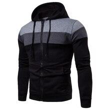 2019 new patchwork hoody men long sleeves good quality hoodies sweatshirts mens slim fit muscle hoodie good muscle mascara