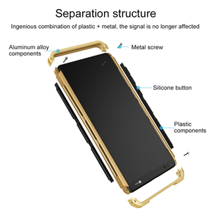 Image 3 - Shockproof Phone Case For Xiaomi Redmi Note 8 Pro note 9 pro note 7 6 5 pro mi 10 pro Aluminum metal bumper + Hard PC Cover Case