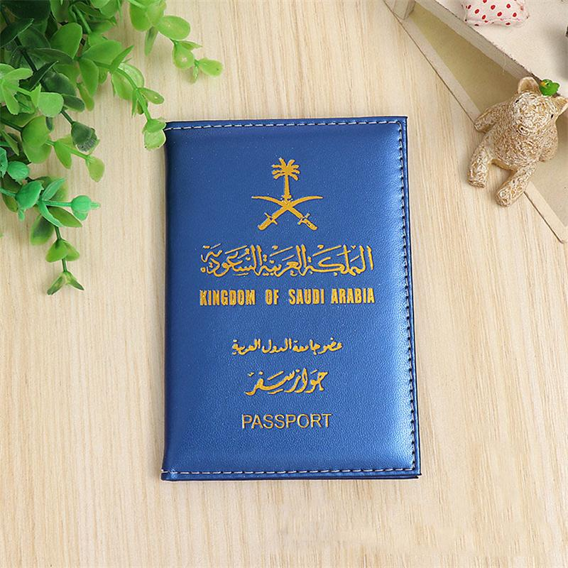 New Saudi Arabia Travel Passport Cover Protector Business Protective Passport Holder T Document Orgainzer Case For Saudi Arabia